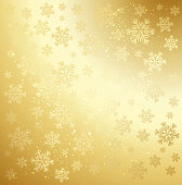 Gold winter abstract background