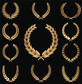 Gold Wreaths