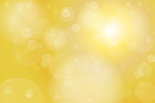 Gold Yellow Circle Bokeh Abstract Background Vector Illustration