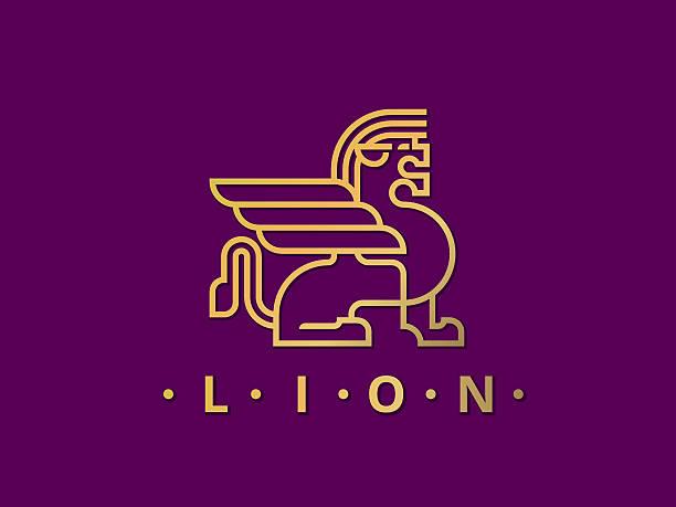 gold_lion - 그리핀 stock illustrations