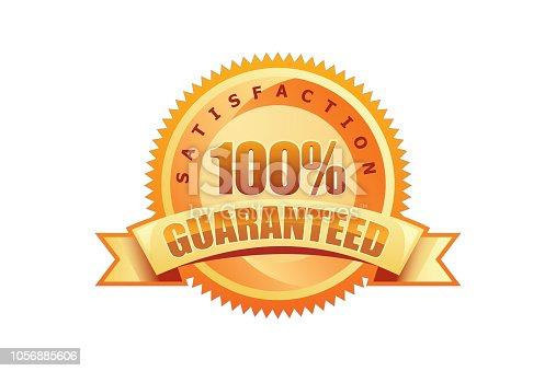 istock Golden 100% Guaranteed seal 1056885606