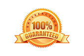 Golden 100% Guaranteed seal