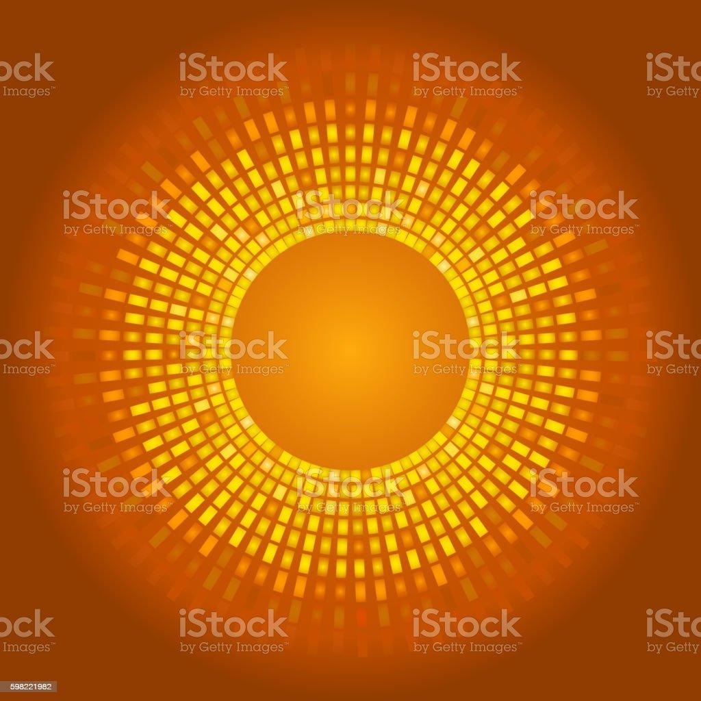 Golden abstract background, glowing pixels ilustração de golden abstract background glowing pixels e mais banco de imagens de abstrato royalty-free