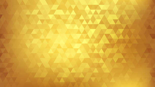 Golden abstract background vector art illustration