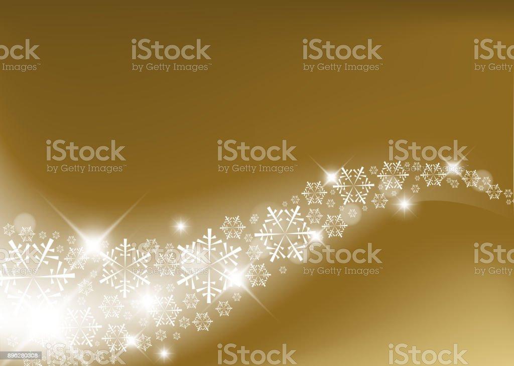 Golden Abstract Christmas background vector art illustration