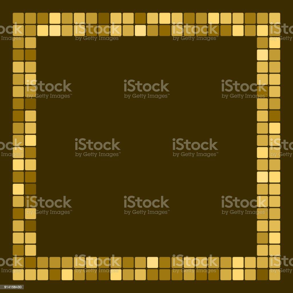 Ilustración de Oro Marco Abstracto Frontera Con Espacio Para Texto O ...