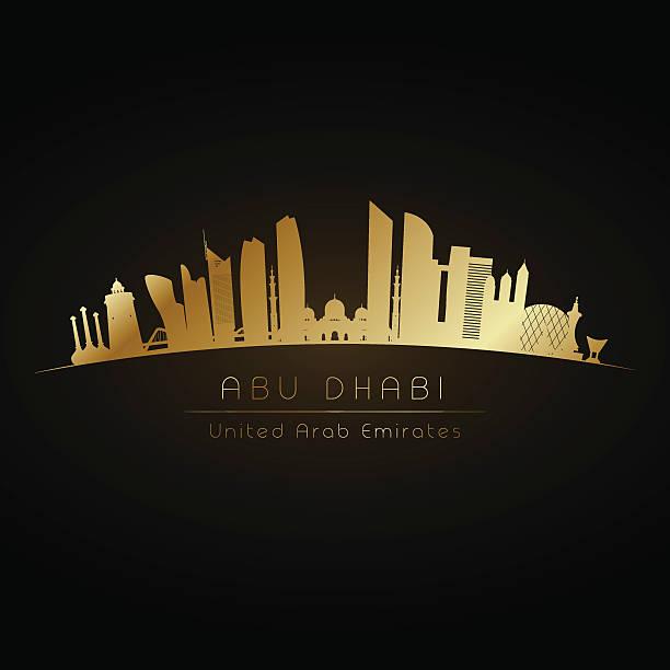 golden abu dhabi. - abu dhabi stock illustrations