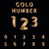Gold, Alphabet, Font, Typscript, Number