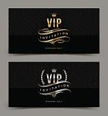 Golden and platinum VIP invitation template