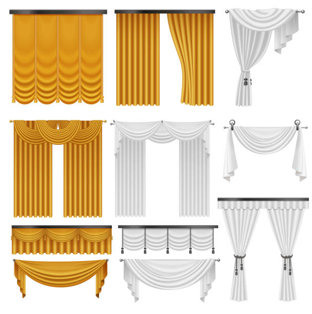Royalty Free Curtain Valance Clip Art, Vector Images