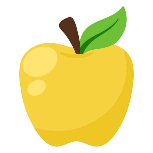 illustrations, cliparts, dessins animés et icônes de illustration de la pomme d'or - golden