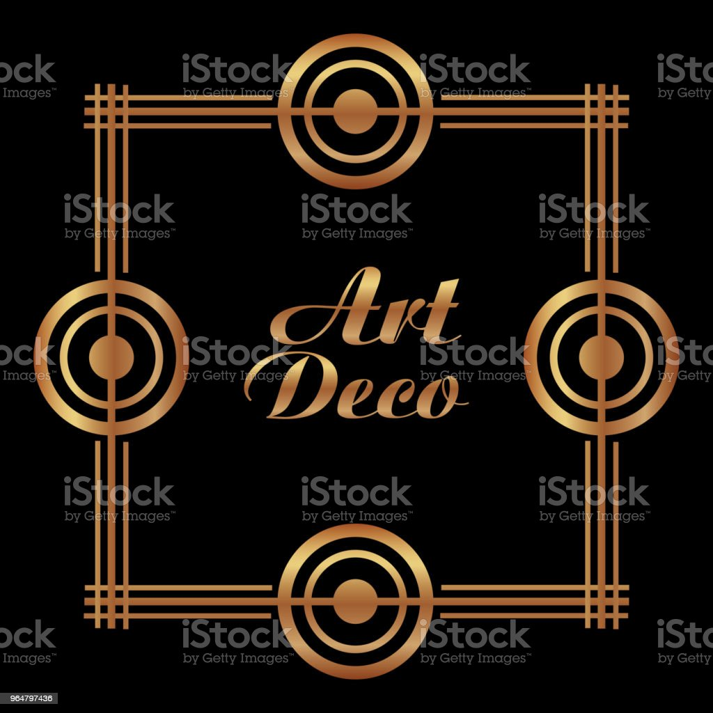 golden art deco frame royal decorative geometric royalty-free golden art deco frame royal decorative geometric stock vector art & more images of abstract