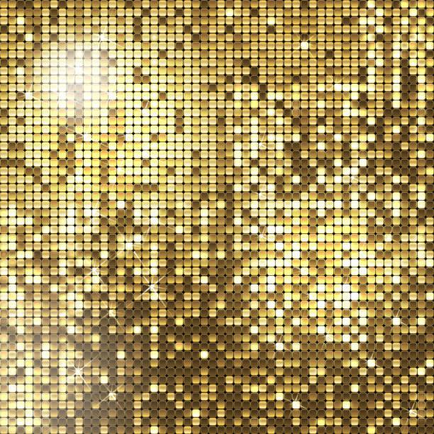 bildbanksillustrationer, clip art samt tecknat material och ikoner med golden background - disco lights