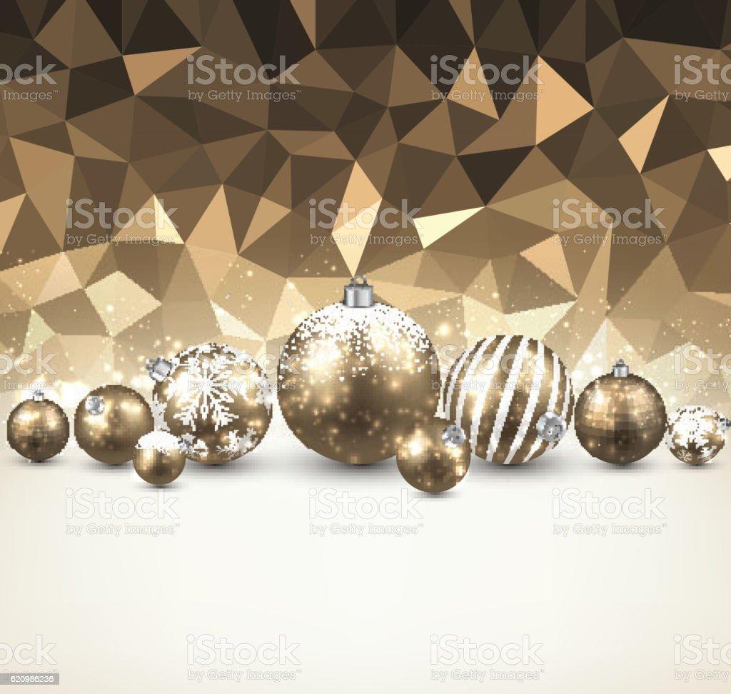 Golden background with Christmas balls. ilustração de golden background with christmas balls e mais banco de imagens de abstrato royalty-free