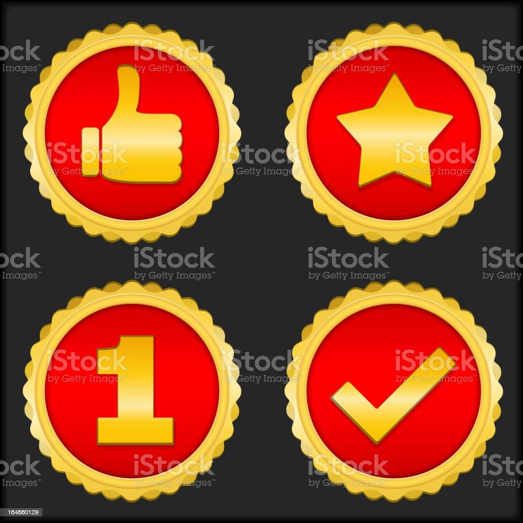 Golden Badges royalty-free stock vector art