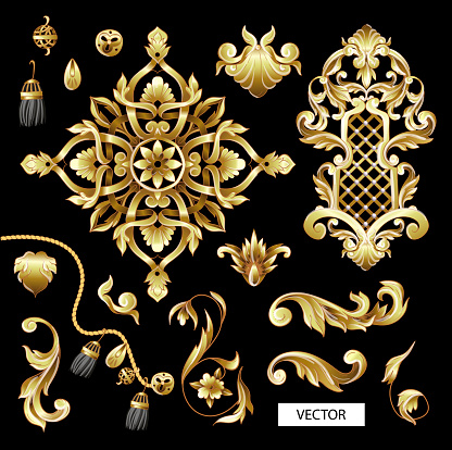 Baroque style stock illustrations