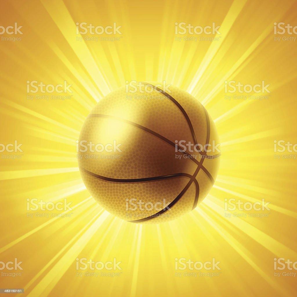 Golden Basketball royalty-free stock vector art