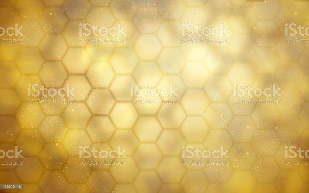golden beehive background vector art illustration