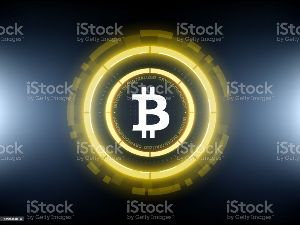 Golden Bitcoin cryptocurrency vector illustration royalty-free golden bitcoin cryptocurrency vector illustration stock vector art & more images of abstract