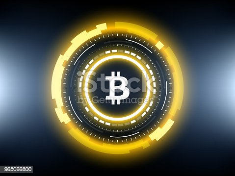 Golden Bitcoin Cryptocurrency Vector Illustration Stock Vector Art & More Images of Abstract 965066800
