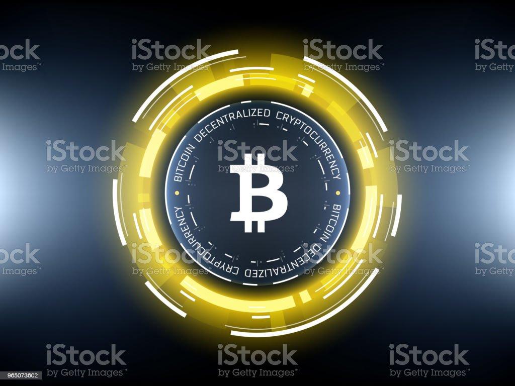 Golden Bitcoin cryptocurrency vector illustration golden bitcoin cryptocurrency vector illustration - stockowe grafiki wektorowe i więcej obrazów abstrakcja royalty-free