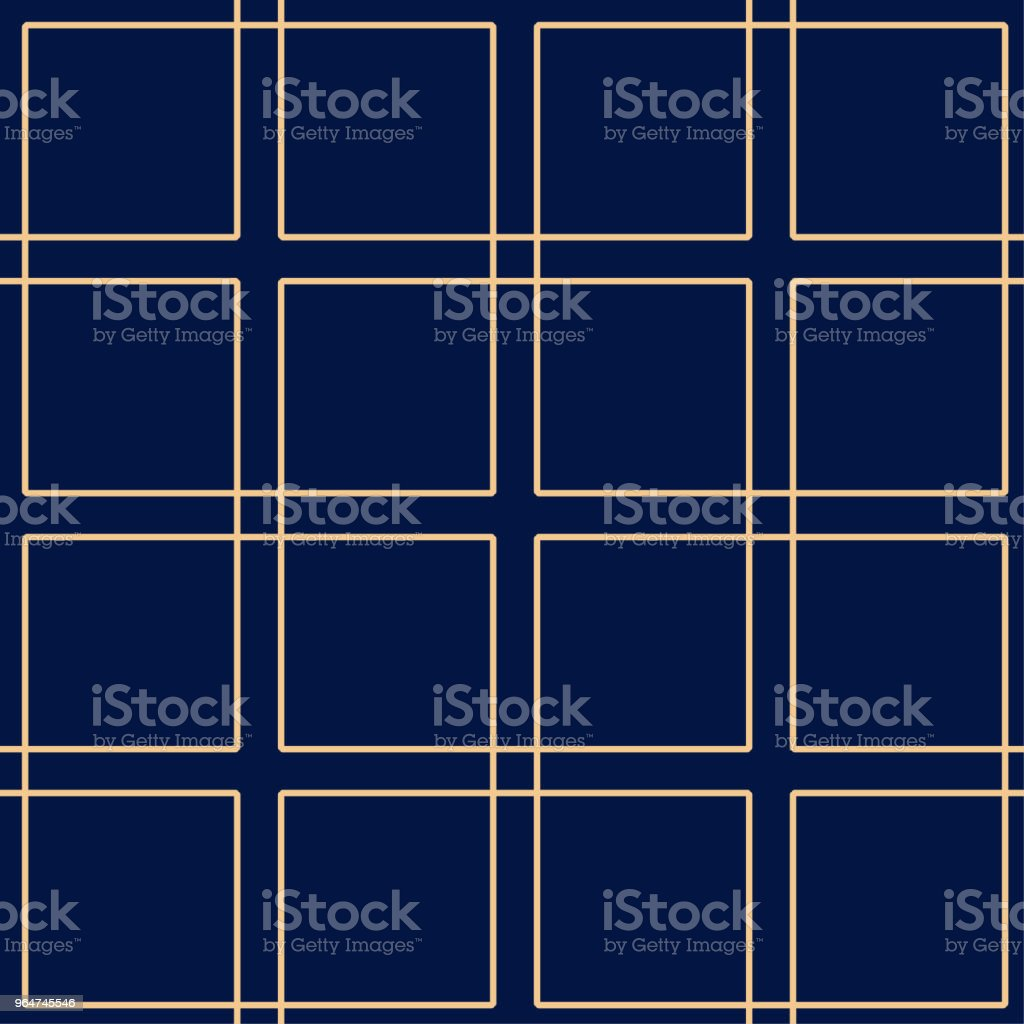 Golden blue geometric ornament. Seamless pattern royalty-free golden blue geometric ornament seamless pattern stock illustration - download image now