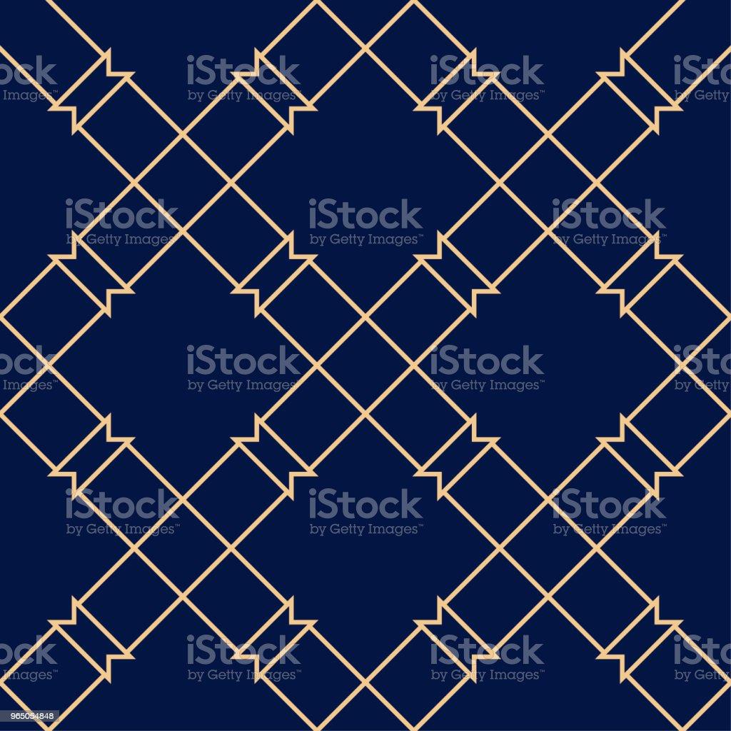 Golden blue geometric seamless pattern golden blue geometric seamless pattern - stockowe grafiki wektorowe i więcej obrazów abstrakcja royalty-free