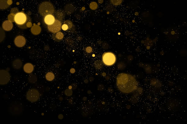 ilustraciones, imágenes clip art, dibujos animados e iconos de stock de luces bokeh oro negro - fondos difuminados