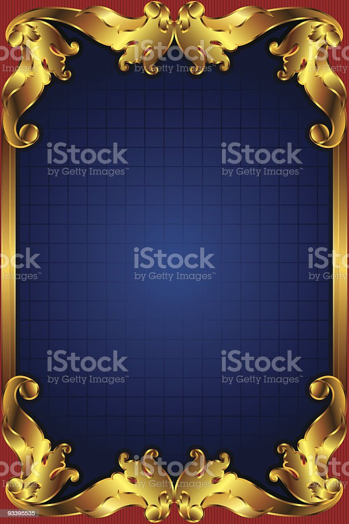 Golden Border Frame Stock Vector Art & More Images of Backgrounds ...