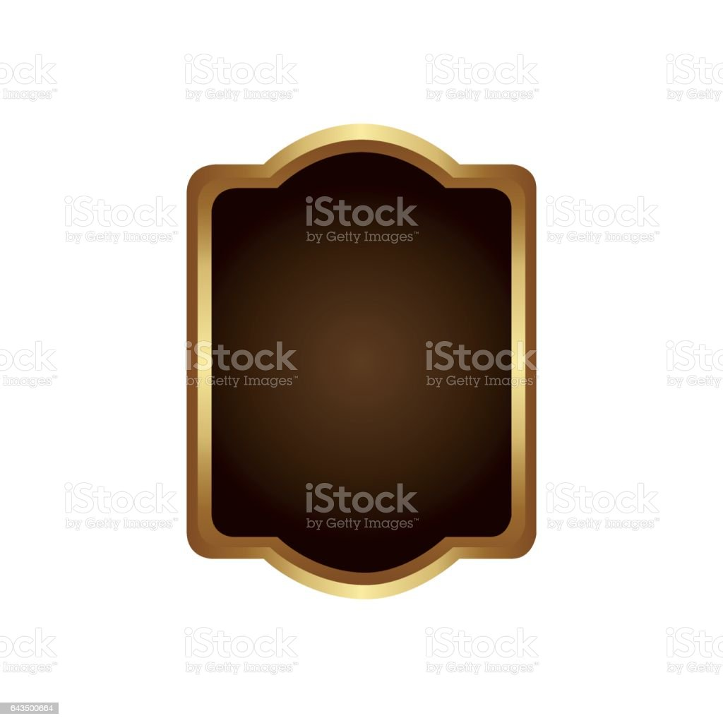 Golden Border With Decorative Heraldic Rounded Rectangle