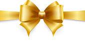 Golden bow. Vector illustration