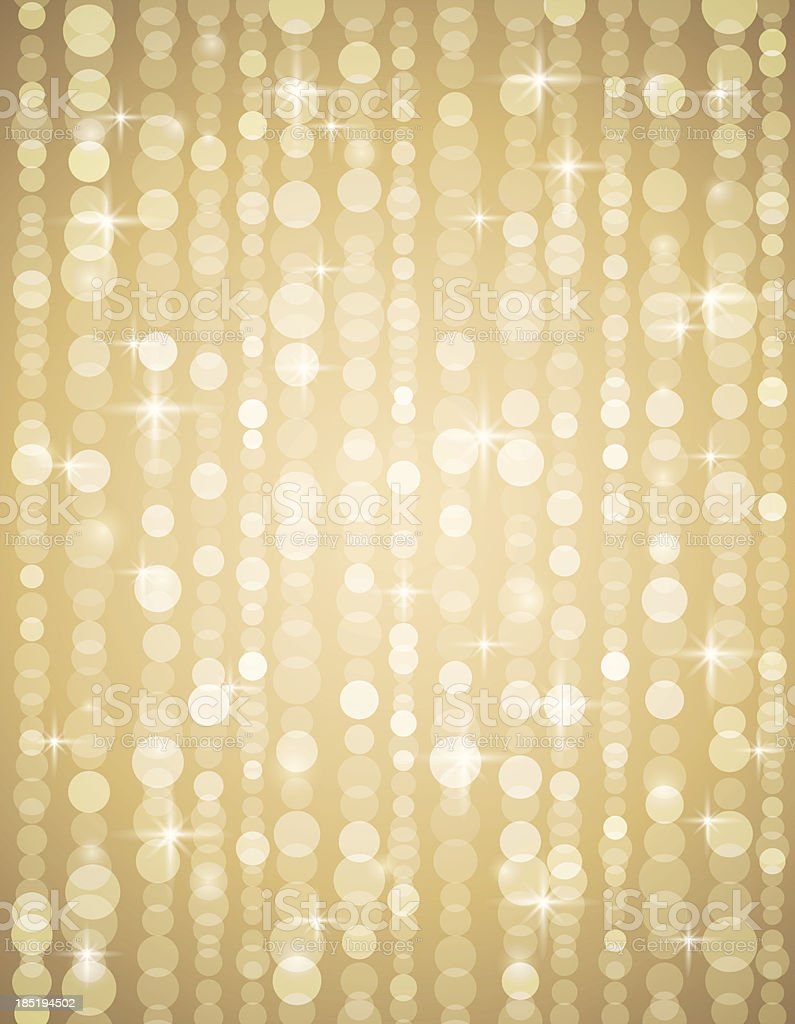 golden brightnes illustration suitable for christmas or disco background vector art illustration