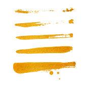 Golden Brush stroke. Vector golden splash.