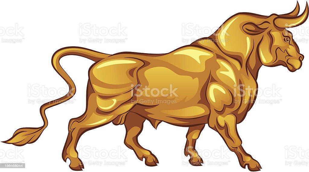 Golden bull royalty-free stock vector art