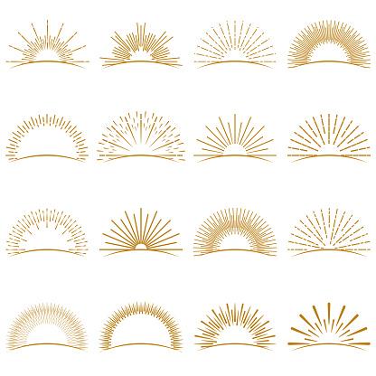 Golden Burst Sunset Rays Collection