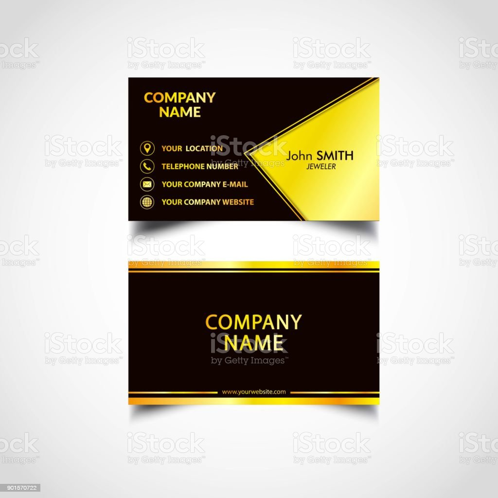Golden business card template us size eps file stock vector art golden business card template us size eps file royalty free golden business card flashek Images