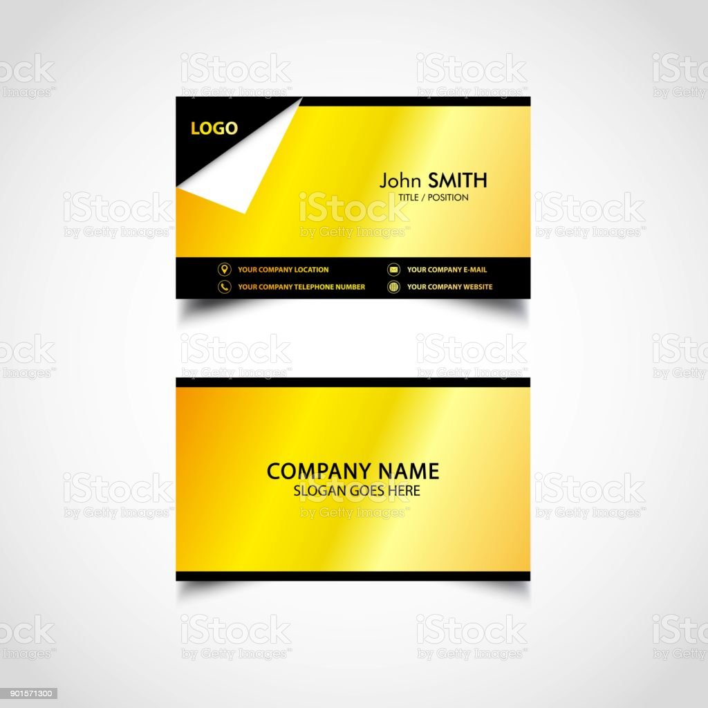 Golden business card template us size eps file stock vector art golden business card template us size eps file royalty free golden business card flashek Image collections