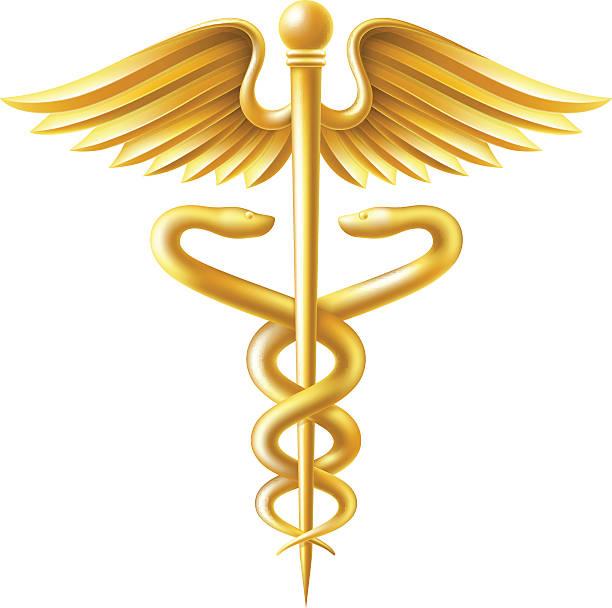Royalty Free Caduceus Gold Medical Symbol Clip Art Vector Images