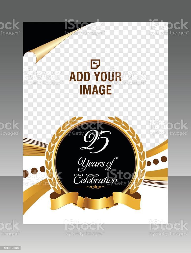 Golden Celebration Layout business brochure. Layout flyer, template.  Stock Illustration vector art illustration