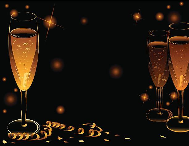 Golden Celebration vector art illustration