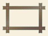 Golden Celtic knot frame element