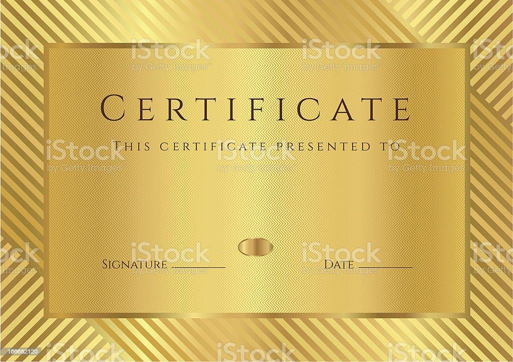 golden certificate diploma coupon award background design stripy  golden certificate diploma coupon template award background design stripy pattern