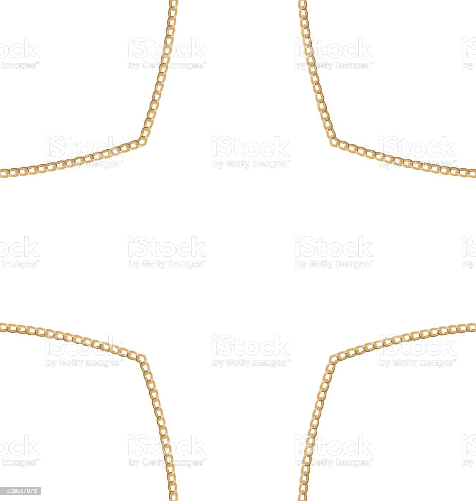 Golden Chain of Abstract Shape vector art illustration