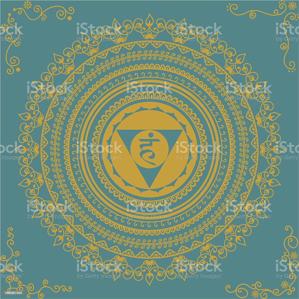 Golden Chakra Five royalty-free stock vector art