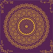 Chakra Seven (Sahasrara) with four ornamental corners. (Includes .jpg)