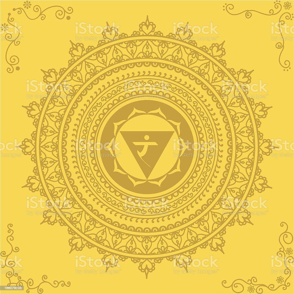 Golden Chakra Three royalty-free stock vector art