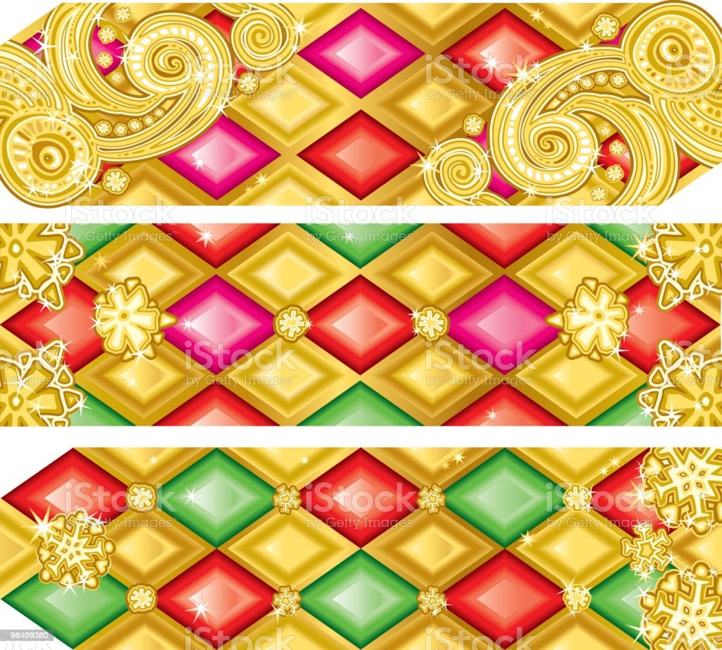 Golden Christmas banners royalty-free golden christmas banners stock vector art & more images of backgrounds