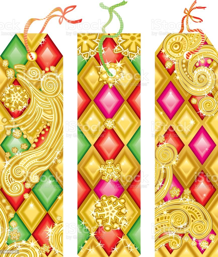 Golden Christmas tags royalty-free golden christmas tags stock vector art & more images of backgrounds
