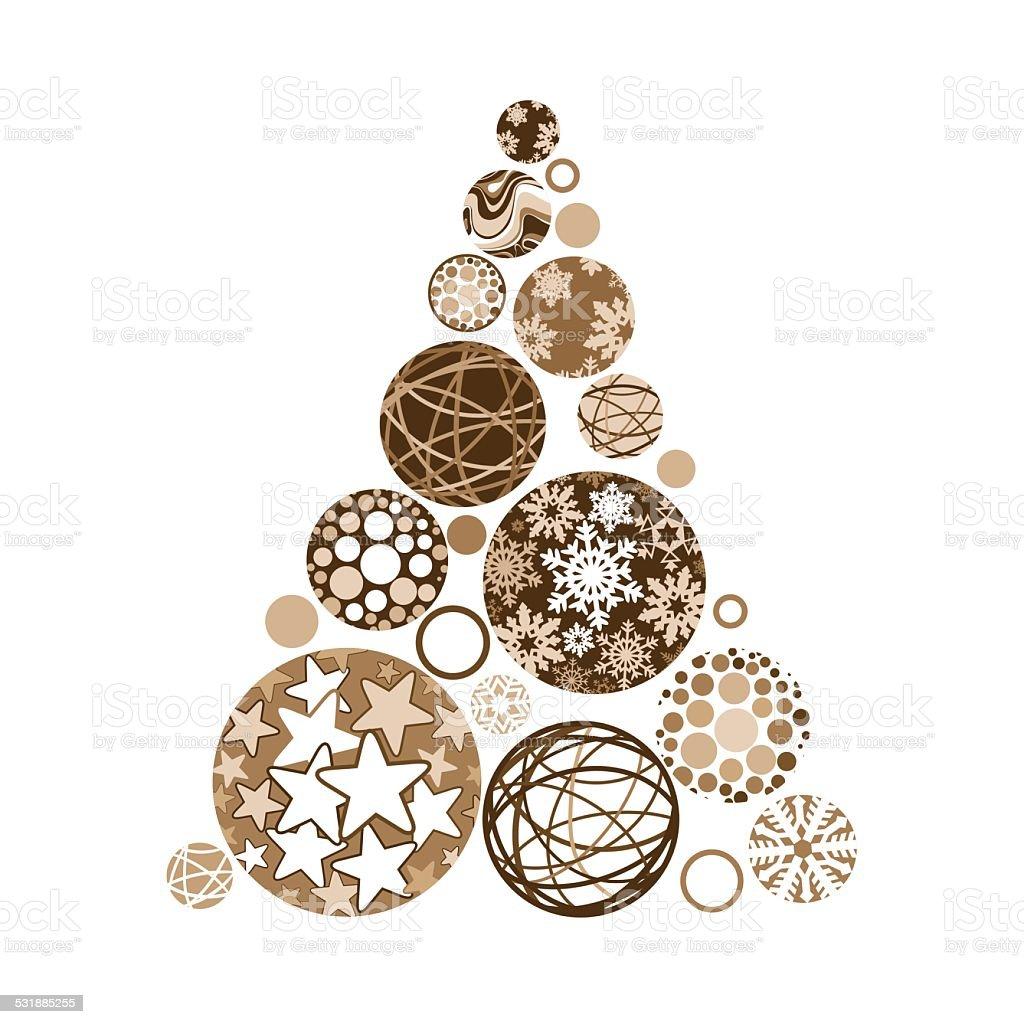 goldener weihnachtsbaum aus verschiedenen b lle stock. Black Bedroom Furniture Sets. Home Design Ideas