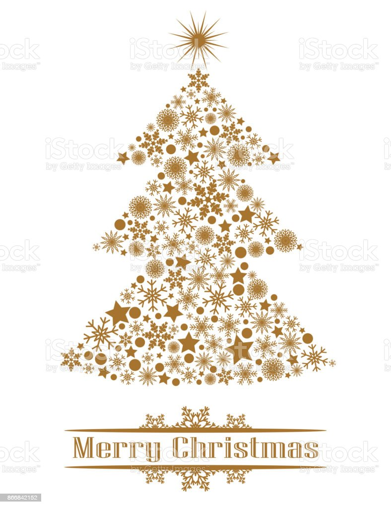 Golden Christmas Tree Stock Illustration Download Image Now Istock
